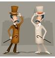Gentleman Vintage Great Britain Victorian vector image vector image