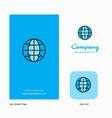 globe company logo app icon and splash page vector image vector image