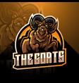 goat esport mascot logo design vector image