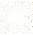 Golden glitter shine texture on a white background vector image vector image