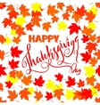 Happy Thanksgiving lettering Greeting text and vector image vector image
