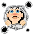 Head of the person in hole vector image vector image