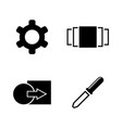 image settings simple related icons vector image