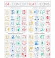 infographics concept icons of future technology vector image