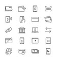 internet banking thin icons vector image