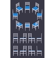 Isometric white chair vector image vector image