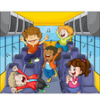 Kids in the bus vector | Price: 3 Credits (USD $3)