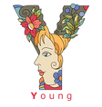 letter Y young vector image vector image