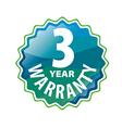 logo stamped 3 year warranty vector image vector image