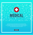 medical background health care medicine vector image
