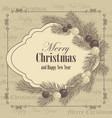 merry christmas and new year greeting card with vector image vector image