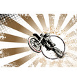 motocross poster vector image