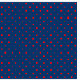 Navy Blue Red Star Polka Dots Background