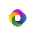 o media company logo vector image