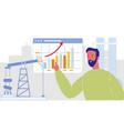 oil company businessman flat vector image