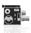 old retro vintage movie video camera 03 vector image vector image