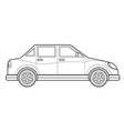outline saloon car body style icon vector image vector image