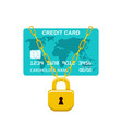 payment card lock bank operation vector image vector image