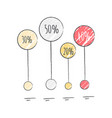 percentage visualization icon vector image vector image