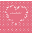 pink valentines day card with vector image