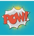Pow Comic Book Bubble Text vector image vector image