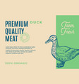 premium quality duck meat abstract meat vector image vector image