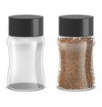 realistic detailed instant coffee glass jar set vector image vector image