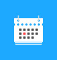 red calendar date flat icon vector image vector image