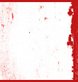 red messy grunge vector image vector image