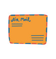 retro orange mail envelope with address vector image vector image