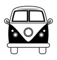 retro van car transport on white background vector image