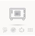 Safe icon Money deposit sign vector image