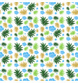 seamless background design with blue flowers vector image vector image