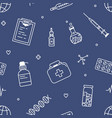 seamless pattern with tools for medical vector image vector image