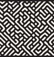 seamless trendy pattern monochrome organic shapes vector image