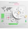 set abstract 3d paper infographic elements vector image vector image