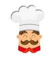 silhouette chef uniform icon vector image