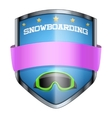 Snowboard Shield badge vector image vector image