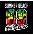 summer beach t shirt vector image