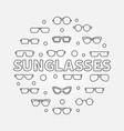 sunglasses round - line symbol vector image