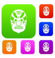 tribal mask set collection vector image vector image
