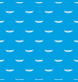 two handled saw pattern seamless blue vector image vector image