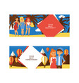 vacation people loving couple character on vector image