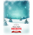 vintage christmas and new year landscape vector image vector image