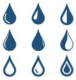 water drop icons set on white background vector image vector image