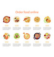 web banner design template for order food vector image vector image