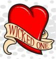 wicked heart vector image