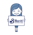 Woman congratulates March 8 vector image