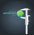 world metrology day logo icon design vector image vector image