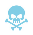 Cute Skull with bones honey kind Blue Head vector image